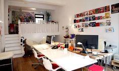 Helle Arbeitsplätze in Galerie-Büro #Büro, #Bürogemeinschaft, #Office, #Coworking, #Hamburg