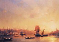 "Ivan Aivazovsky, ""sunset over the Golden Horn."" 1845"