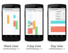 alamkanak/Android-Week-View: Android Week View is an android library to display calendars (week view or day view) within the app. It supports custom styling.
