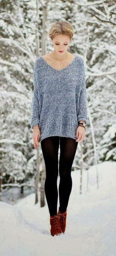 It's all about the sweater. Simple. Clean. Warm.Wonderful.