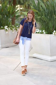 Bow Top | White Skinny Jeans | spring style | spring fashion | fashion for spring and summer | warm weather fashion | style tips for spring | fashion tips for spring || Absolutely Annie