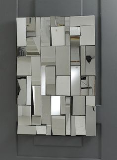 Rectangular Clear Bevelled Glass Pave Multi Facet Wall Mirror 120x80cm