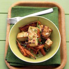 Soy-Glazed Tofu and Carrots Recipe | Martha Stewart