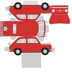 Box carros molde: