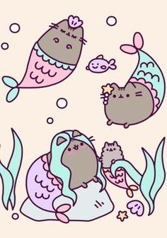 Pusheen: mermaids