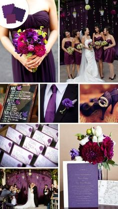 Purple Wedding Ideas - More At:  http://www.pinterest.com/fresnoweddings/