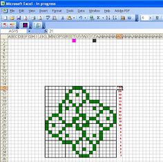 ChemKnits: How to Make a Knitting Chart in Excel (Part 3 - Sharing Your Finished Charts)