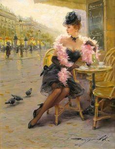 "Constantin RAZOUMOV : ""La café parisien"" HST SBD"