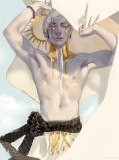 "yellow - man - illustration - C. Bedford - ""It is okay, he's forgotten me anyway. Character Concept, Character Art, Concept Art, Illustrations, Illustration Art, Art Et Design, Kunst Online, Forgotten Realms, Character Design Inspiration"