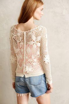Tokay Crochet Pullover | anthropologie.com #crochet #cardigan #pullover