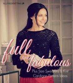 Full and Fabulous: 14 Plus Size Sweaters & Knit Cardigan Pattern Ideas
