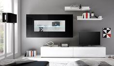 Lowboards und Vitrinen mit Glasablagen, Schubladen, Beleuchtung und unterschiedlichen Farbkombinationen bei vladon.de
