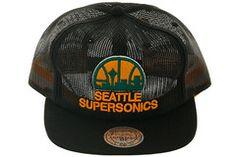 d5e956b479d32 Mitchell   Ness VQ11Z Seattle Supersonics Mesh Snapback Hat - Black