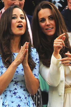 The Duchess, with her sister, Pippa Middleton.