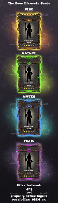 Crafting cards template — Photoshop PSD #character #games • Available here → https://graphicriver.net/item/crafting-cards-template/14814464?ref=pxcr