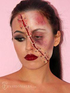Half Glam/ Half Zombie Halloween Makeup Tutorial #halloweenmakeup #zombiemakeup #makeuptutorial