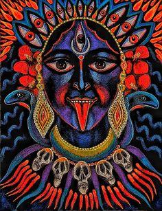Kali Ma by Vera Kereszteny Kali Goddess, Mother Goddess, Earth Goddess, Indiana, Durga Images, Kali Mata, Hindu Art, Kali Hindu, Divine Mother