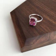 3 Carat Rhodolite Garnet Engagement Ring Baguette Diamond Ring | Etsy Pink Stone Rings, White Gold Rings, Baguette Diamond Rings, Most Comfortable Shoes, Pink Ring, 3 Carat, Colored Diamonds, Garnet, Wedding Rings