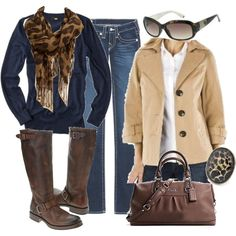 have khaki jacket, some brown boots...need blue shirt.