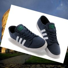 Adidas Originals Stile NEO Scarpe da Uomo Blu Scuro/Bianco