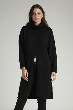 Maisie Split Knit - Black – I.D.S