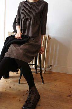 dress, wool - frank leder   syuhari