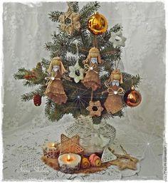 Мастерим милых ангелочков и звёздочки из мешковины и джута - Ярмарка Мастеров - ручная работа, handmade