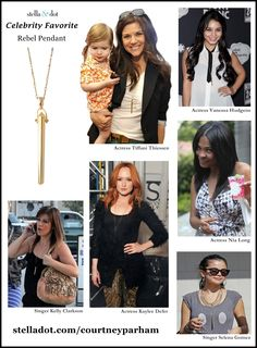 Celebs adore the Rebel Pendant! repin for a chance to win http://www.stelladot.com/denikaclay