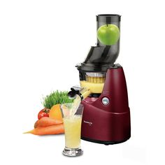 Kuvings BPAFree Whole Slow Juicer Red with Sortbet Maker Cleaning Tool Set Smart Cap and Recipe Book >>> Visit the image link more details. (This is an affiliate link) Best Juicer To Buy, Juicer For Sale, Hurom Juicer, Juicer Reviews, Cold Press Juicer, Fruit Juicer, Juice Extractor, Specialty Appliances