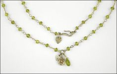 A ME & RO PERIDOT AND STERLING SILVER NECKLACE. Lot 150-7267 #jewelry