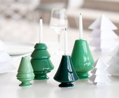 Create new Christmas traditions with Kähler's fir-green candleholder for Christmas tree candles. Let the Avvento series adorn your window sill or a table in a beautiful design tableau. Noel Christmas, Modern Christmas, Scandinavian Christmas, Christmas Design, Winter Christmas, Christmas Ornaments, Christmas Tree Candle Holder, Advent Candles, Candle Holder Set