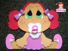 Manualidades Luna Clara: Bebes en goma eva