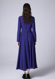 1bfa08c8a3 Blue linen dress maxi dress prom dress women dress by xiaolizi Linen Dresses
