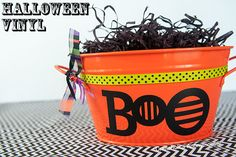 Cute Halloween craft idea using vinyl & #SilhouetteCameoGiveaway