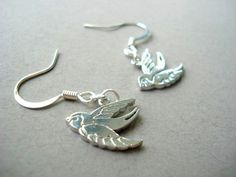 Silver Sparrow Earrings in sterling by MDsparks on Etsy