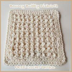 Bouncy Bubbly dishcloth ~ FREE crochet pattern.