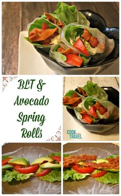 You'll forget you used to eat BLTs with bread with this BLT Avocado Spring Rolls recipe!