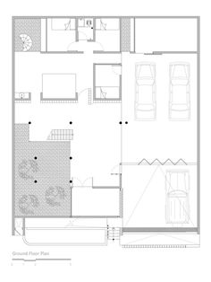 Lumber Shaped-Box House,Ground Floor Plan