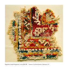 Egyptian carpet fragment | circa 900 CE
