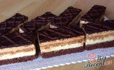 Oblíbené karamelově vanilkové řezy 3Bit | NejRecept.cz Cake Cookies, Waffles, Food Porn, Food And Drink, Sweets, Candy, Chocolate, Breakfast, Ethnic Recipes
