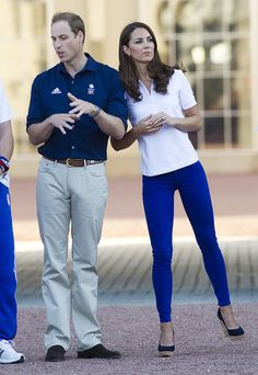#kate middleton.  love those pants and wedges