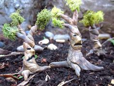 Clay fanciful trees
