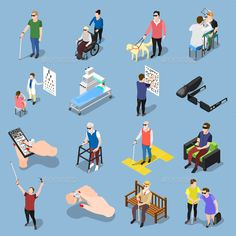 Buy Blind People Icon Set by macrovector on GraphicRiver. Isometric blind people icons collection of isolated realistic images of sightless human characters in different situa. Character Drawing, Character Design, Experience Map, Braille, Mobile Ui Patterns, Urban Design Diagram, Isometric Design, People Icon, People Illustration