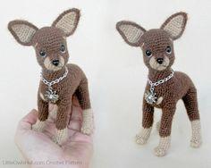 059 Toy Terrier Hund  häkeln Häkelanleitung PDF von LittleOwlsHut