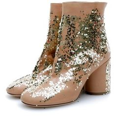 MARTIN MARGIELA Sock Boots Nat/Gld