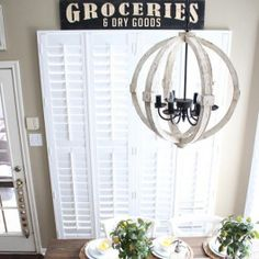 0dd1ed87b9 Our groceries sign is a LARGE kitchen sign that  farmhouse vintage  inspired. It  the perfect sign to add charm to your space. For more visit  Decor Steals