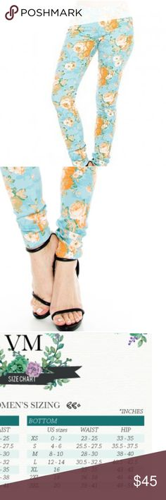 Floral print skiny jeans Beautiful turquoise blue floral print  Cotton blend  True to size  A perfect statement piece that you can carry all year around just add the right top, sloppy cardigans crop top or bralettes, chambray sky is the limit. Jeans Skinny