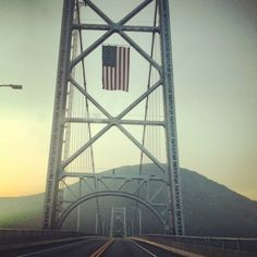 Bear Mountain Bridge, gateway to Harriman State Park.  Also part of the Appalachian Trail.
