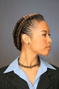 natural hair styles for black women - Google Search (love this, she looks very together but natural)