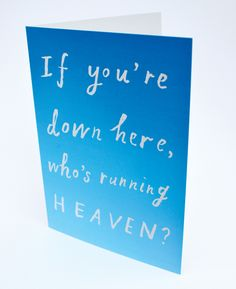 A6 greetings card £2.50 incl envelope